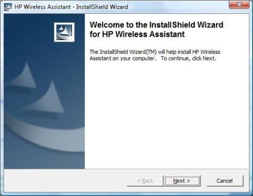 HP Wireless Assistant 4.0 installation